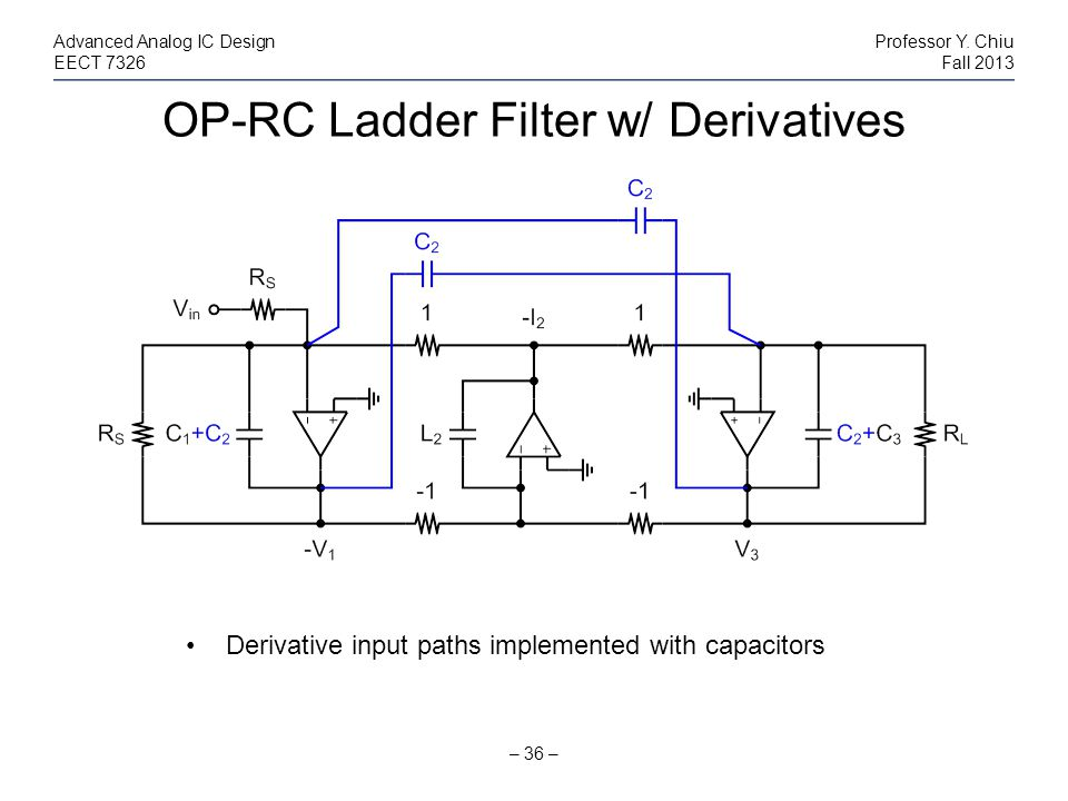 OP-RC Ladder Filter w/ Derivatives