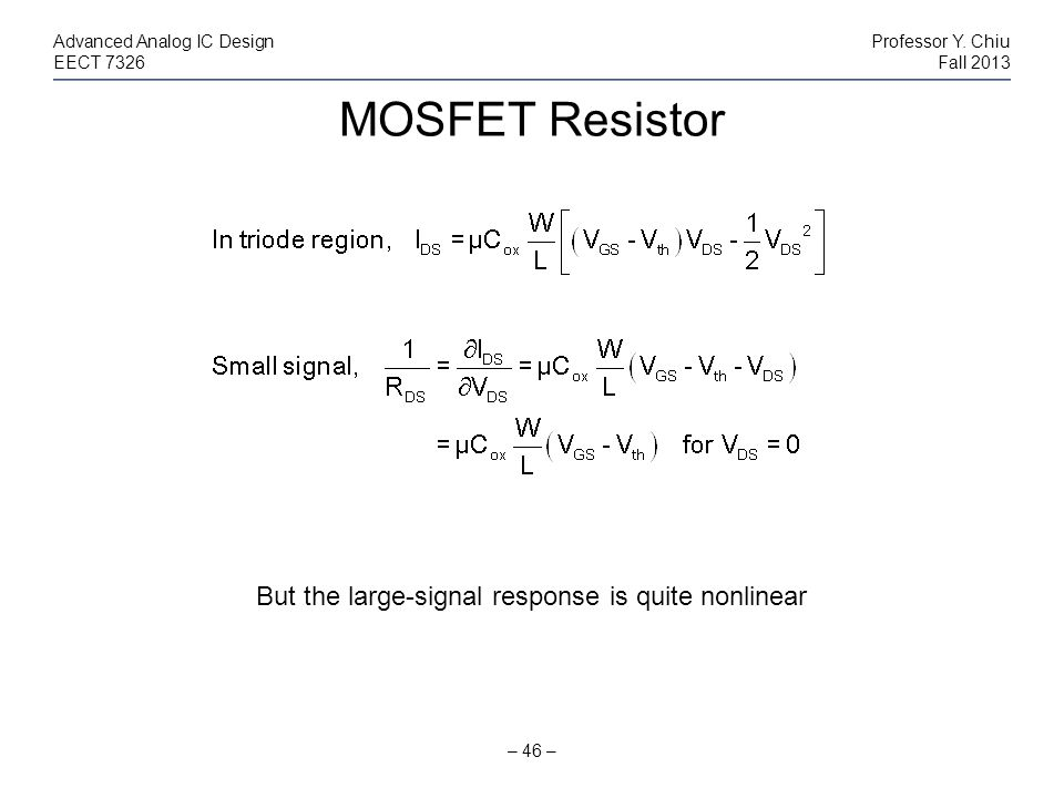 But the large-signal response is quite nonlinear