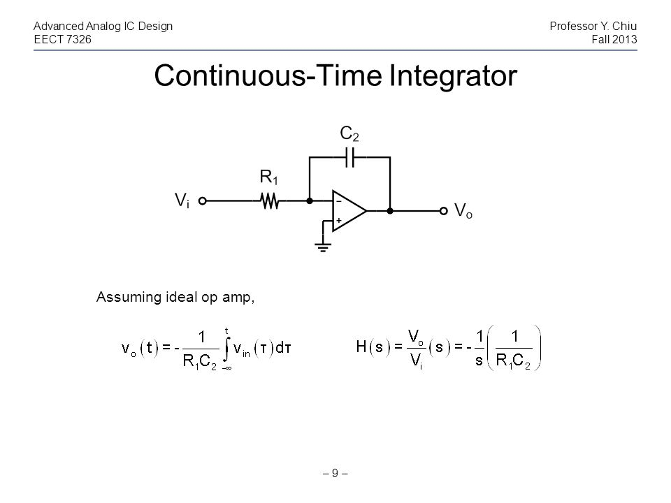 Continuous-Time Integrator