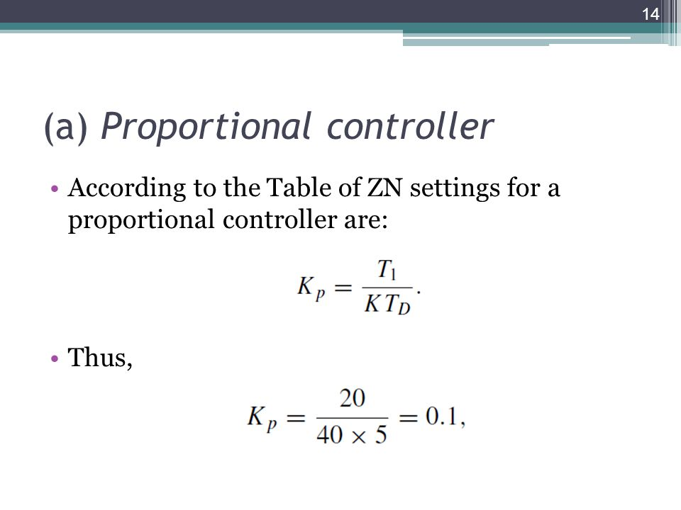 (a) Proportional controller