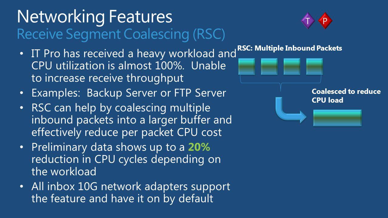 Networking Features Receive Segment Coalescing (RSC)