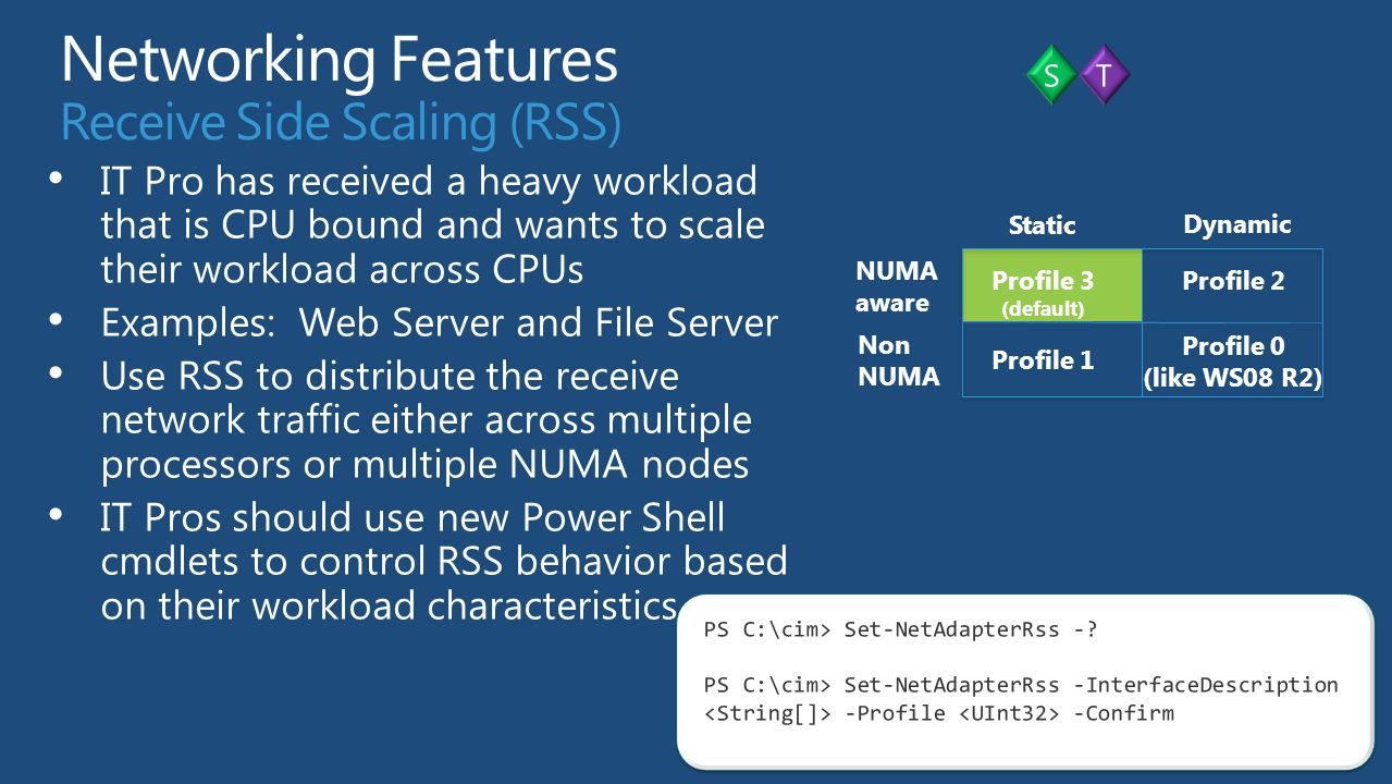 Networking Features Receive Side Scaling (RSS)