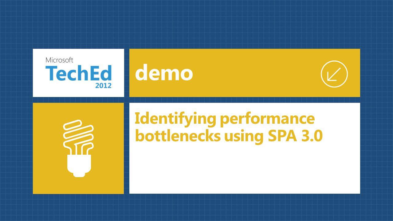 Identifying performance bottlenecks using SPA 3.0