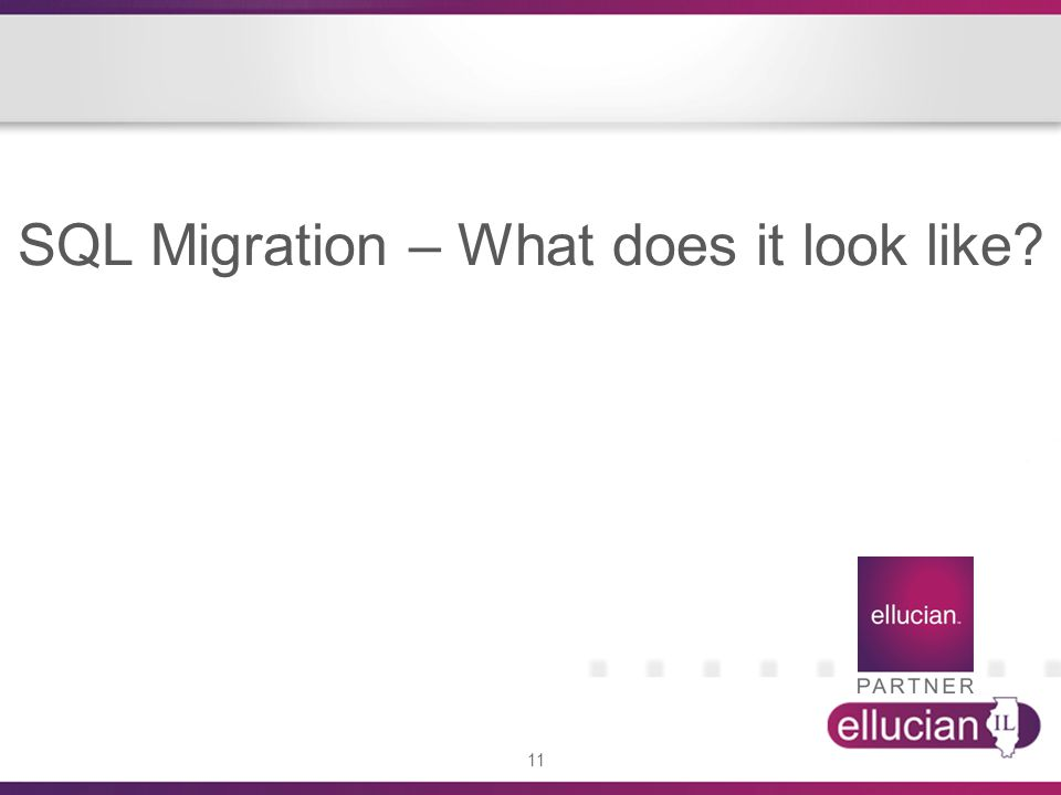SQL Migration – What does it look like