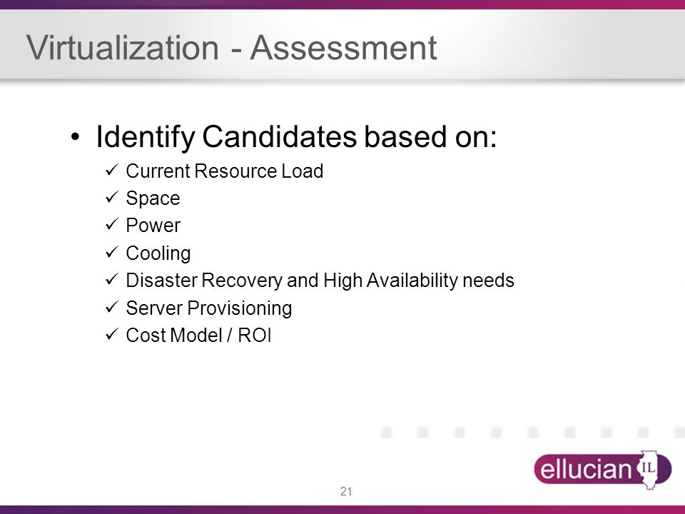 Virtualization - Assessment