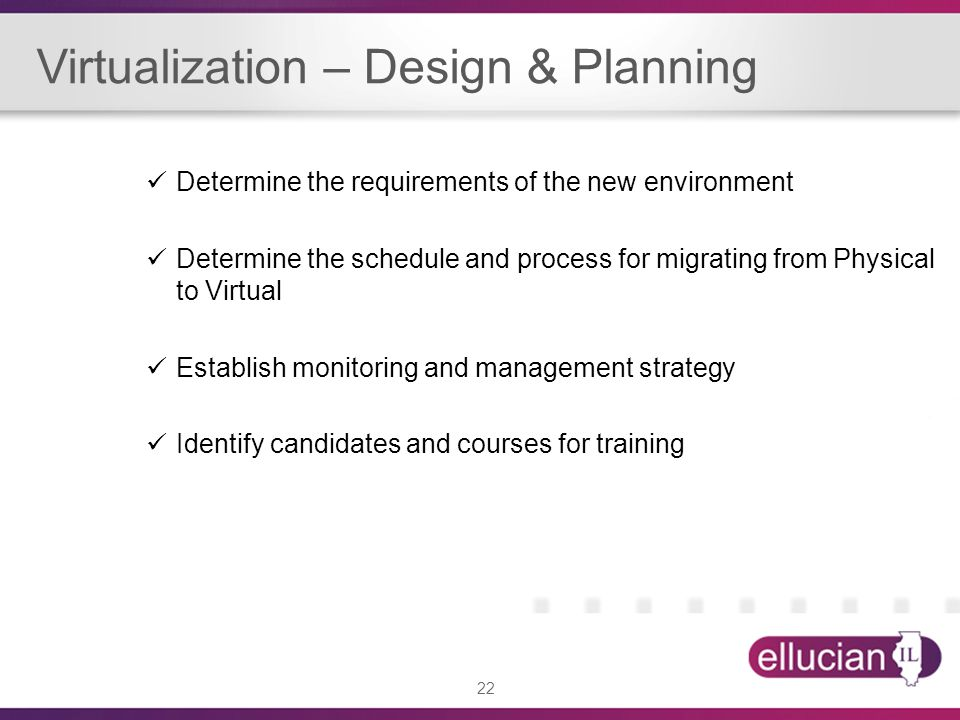 Virtualization – Design & Planning