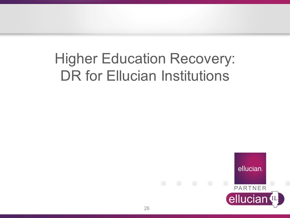 Higher Education Recovery: DR for Ellucian Institutions