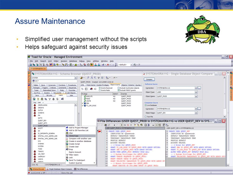Assure Maintenance Simplified user management without the scripts