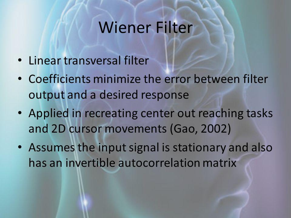 Wiener Filter Linear transversal filter