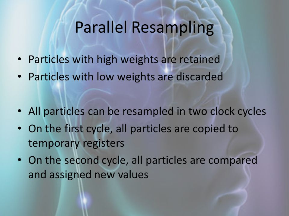 Parallel Resampling Particles with high weights are retained