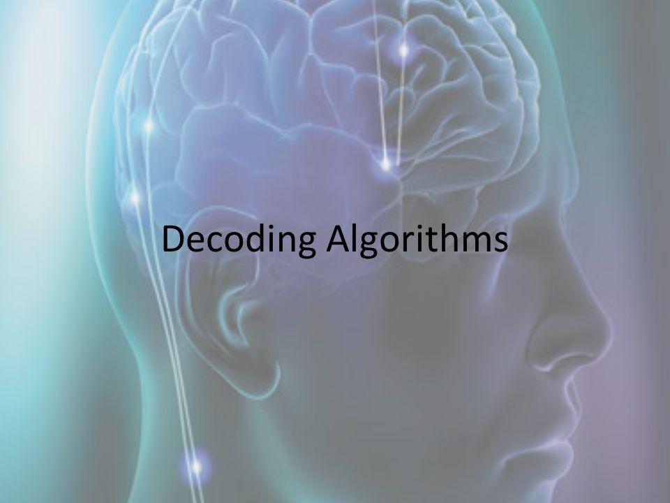 Decoding Algorithms
