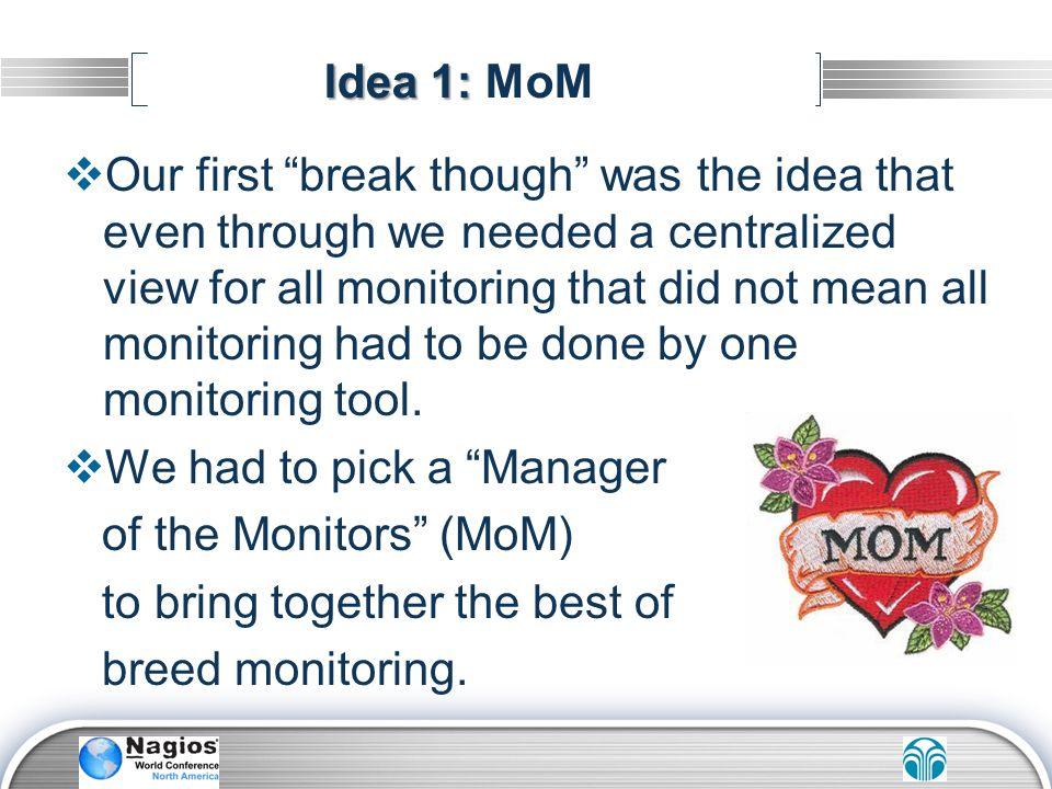 Idea 1: MoM