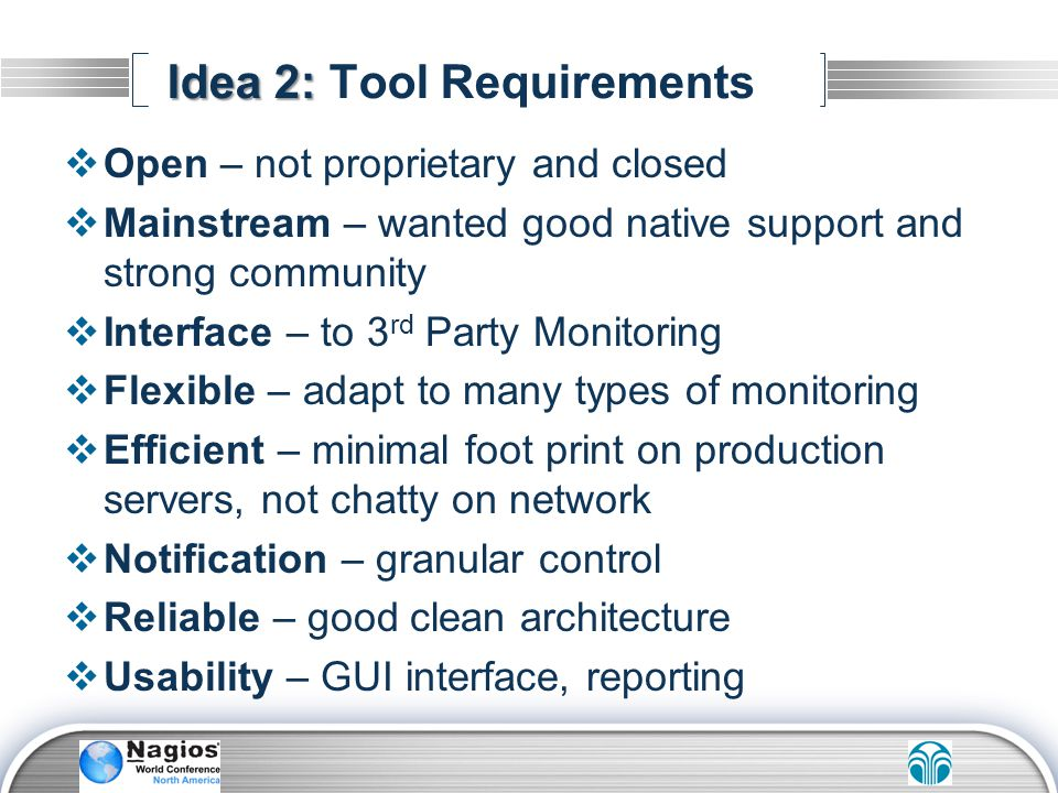 Idea 2: Tool Requirements