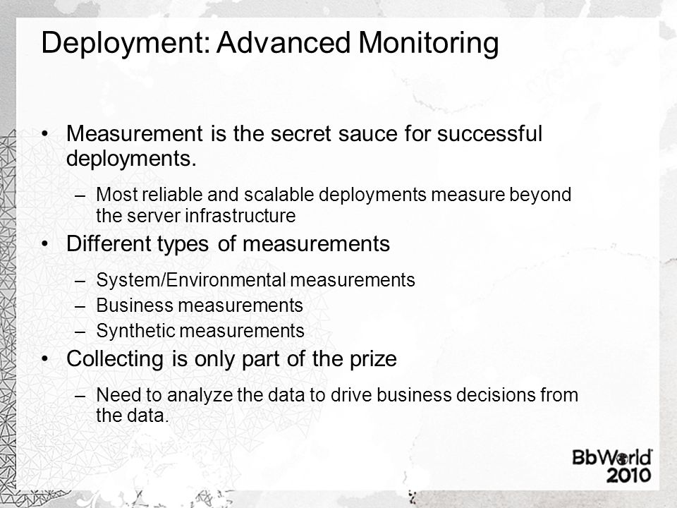 Deployment: Advanced Monitoring