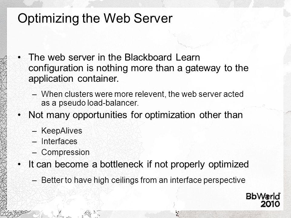 Optimizing the Web Server