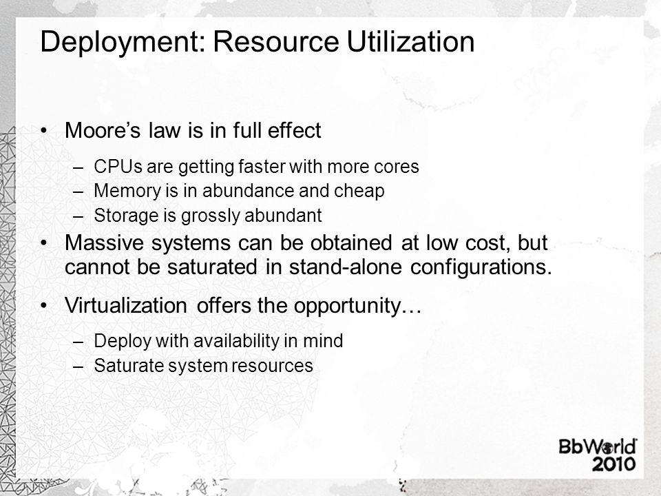 Deployment: Resource Utilization