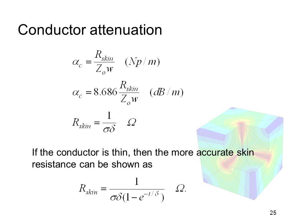 Conductor attenuation