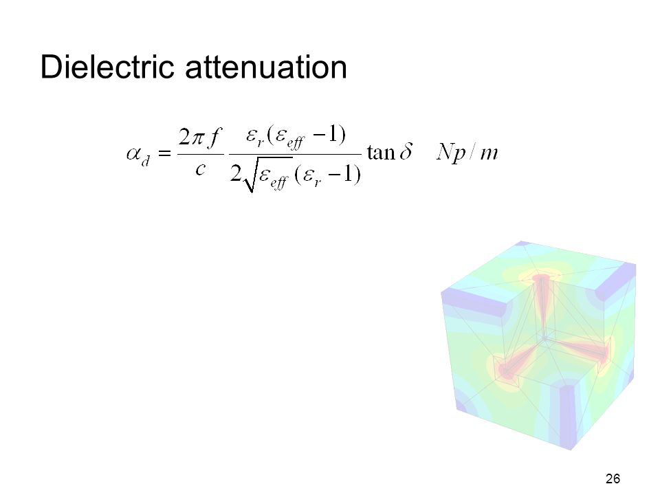 Dielectric attenuation