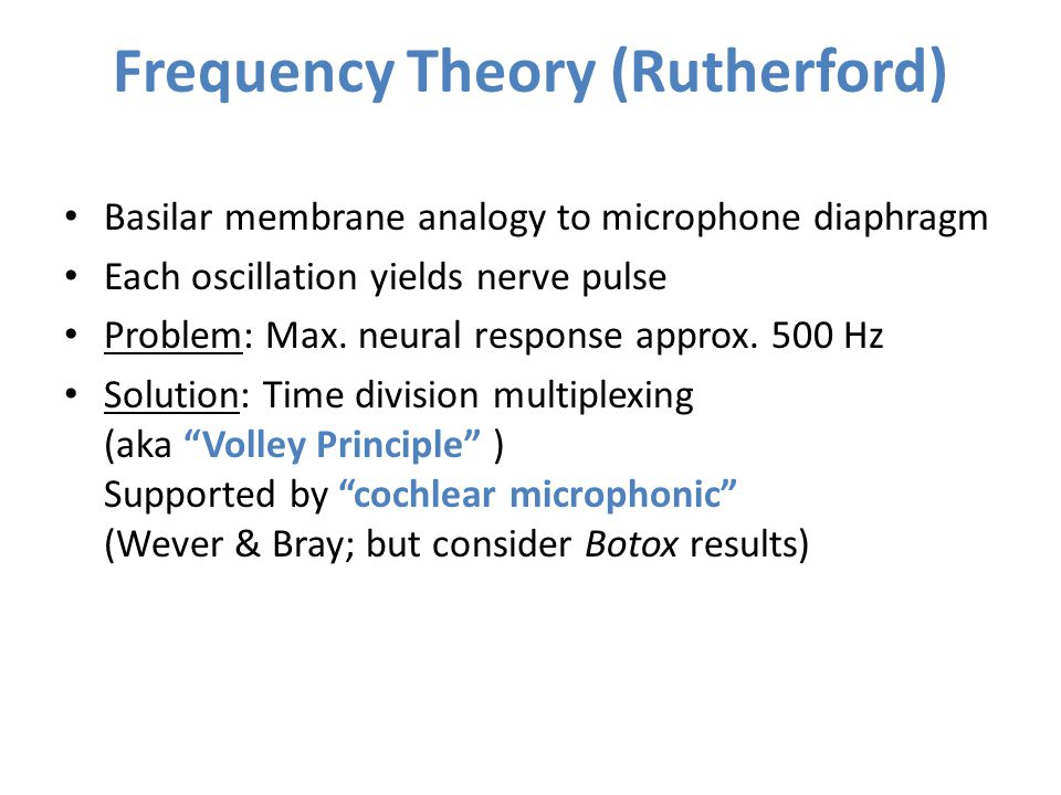 Frequency Theory (Rutherford)