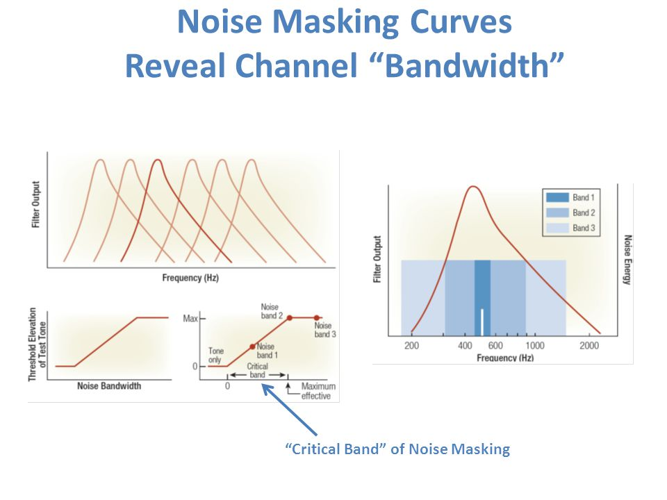 Noise Masking Curves Reveal Channel Bandwidth