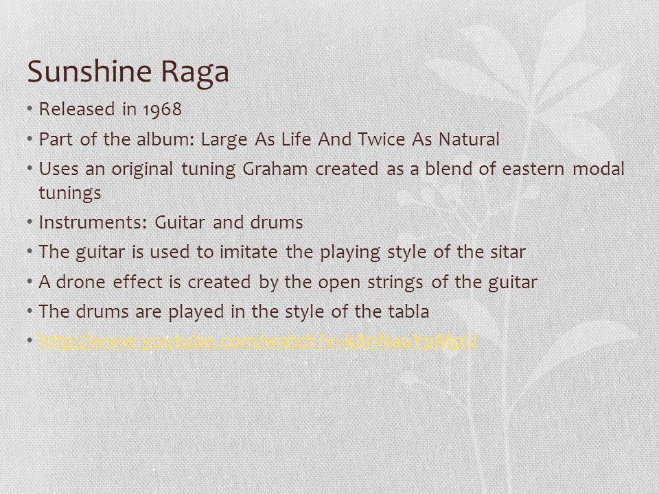 Sunshine Raga Released in 1968