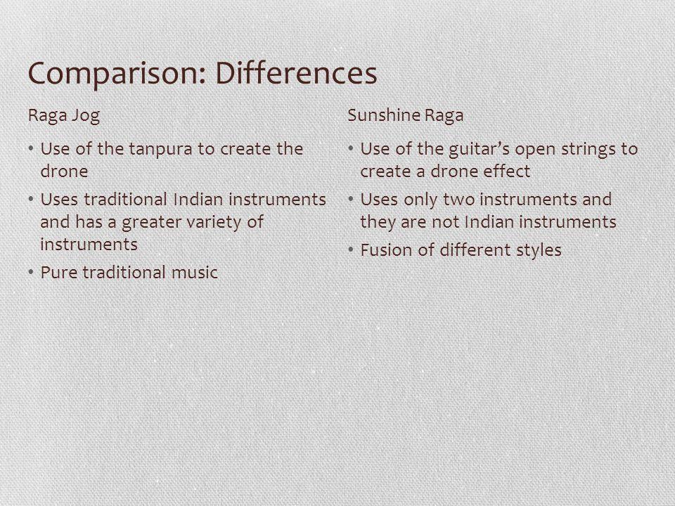 Comparison: Differences