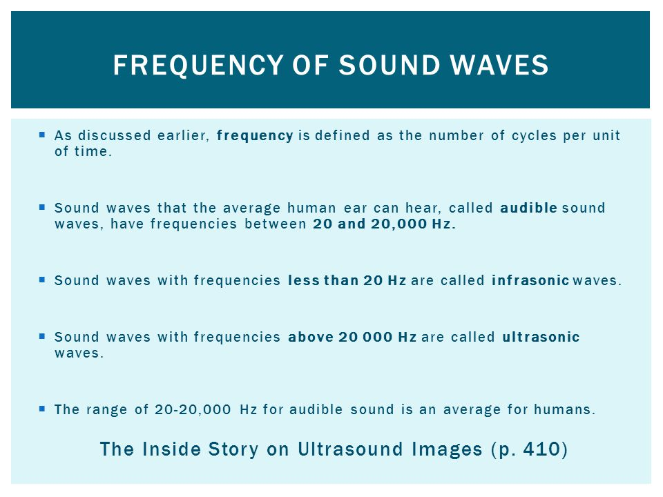 Frequency of sound waves