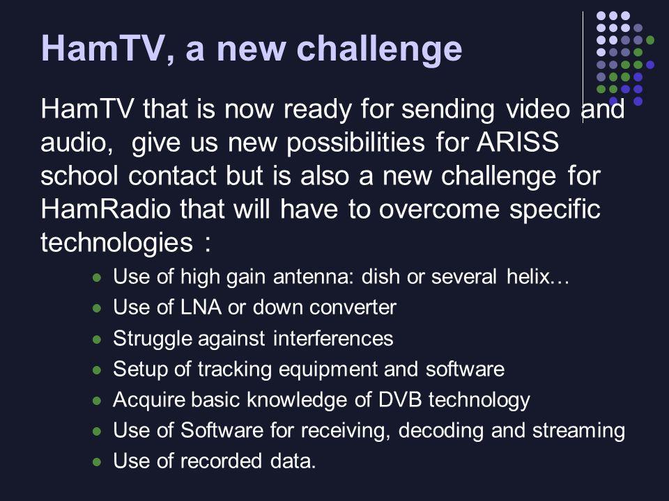 HamTV, a new challenge