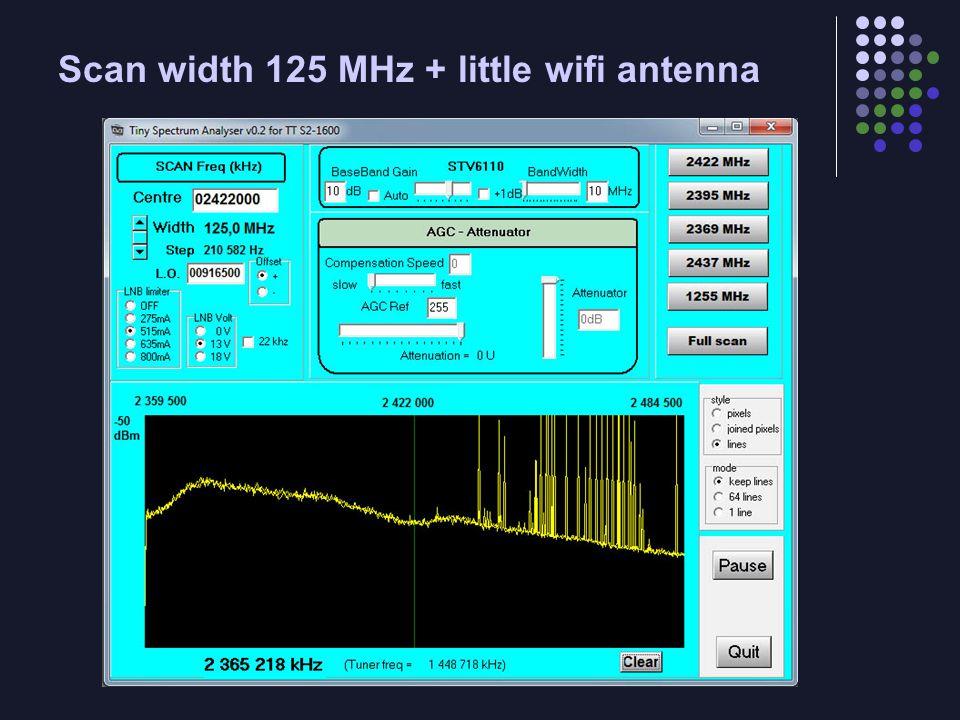 Scan width 125 MHz + little wifi antenna