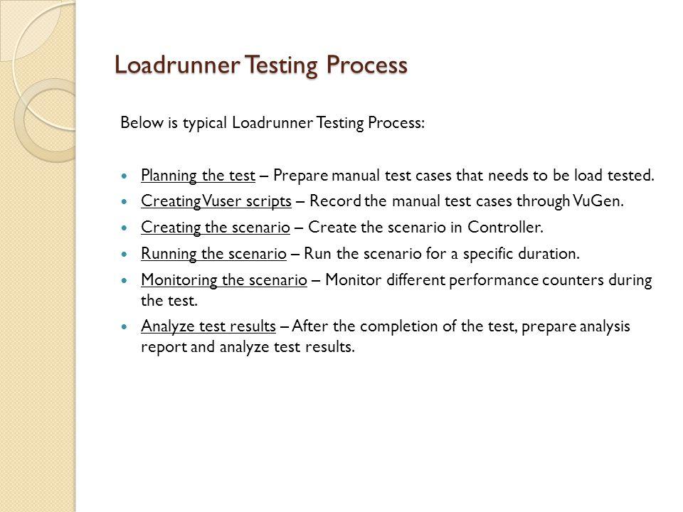 Loadrunner Testing Process