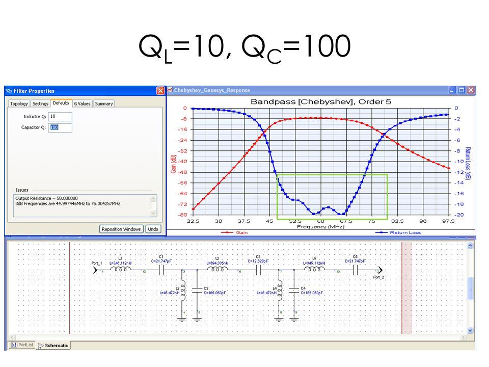 QL=10, QC=100