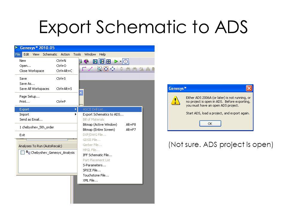 Export Schematic to ADS