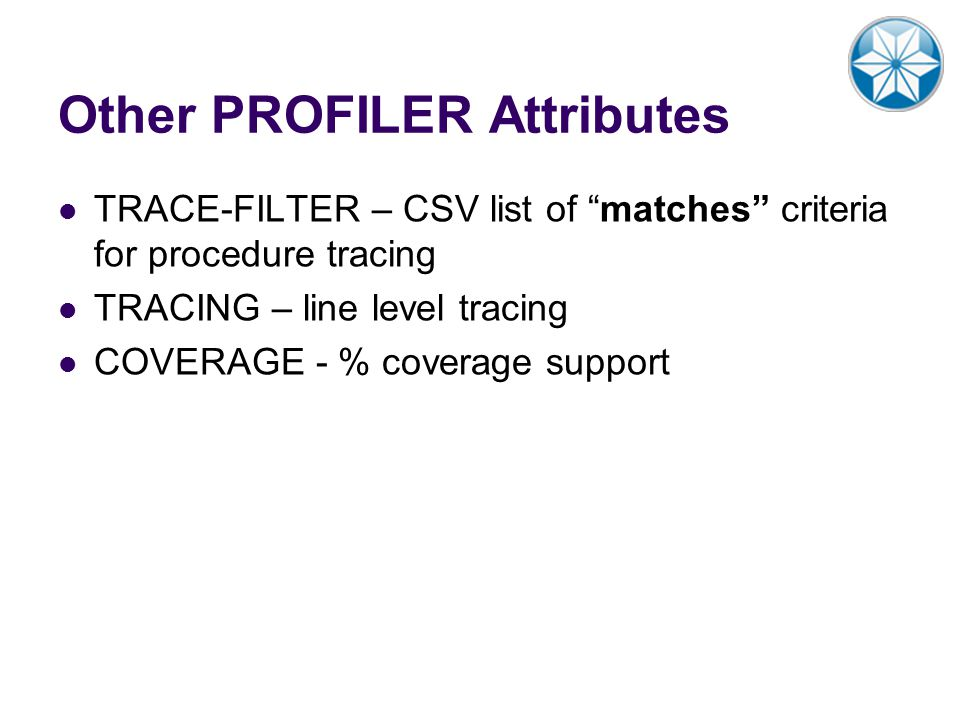 Other PROFILER Attributes