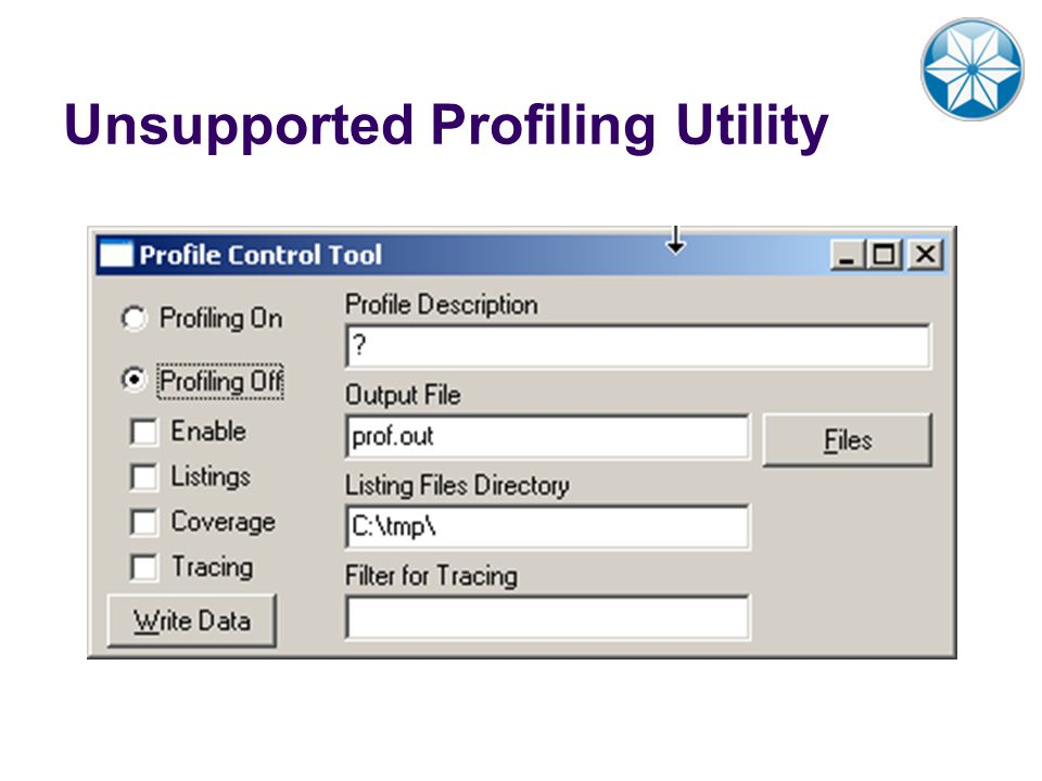 Unsupported Profiling Utility