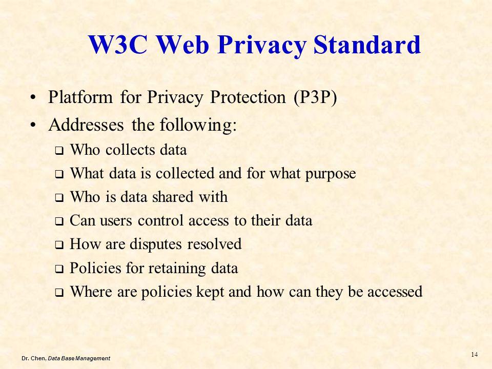 W3C Web Privacy Standard