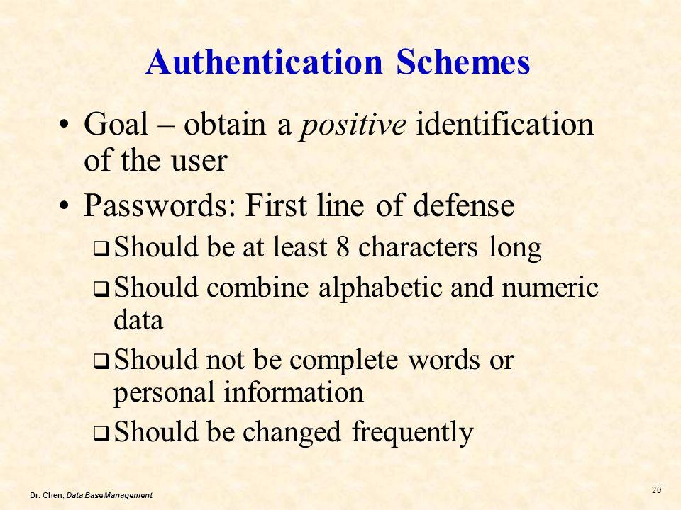 Authentication Schemes