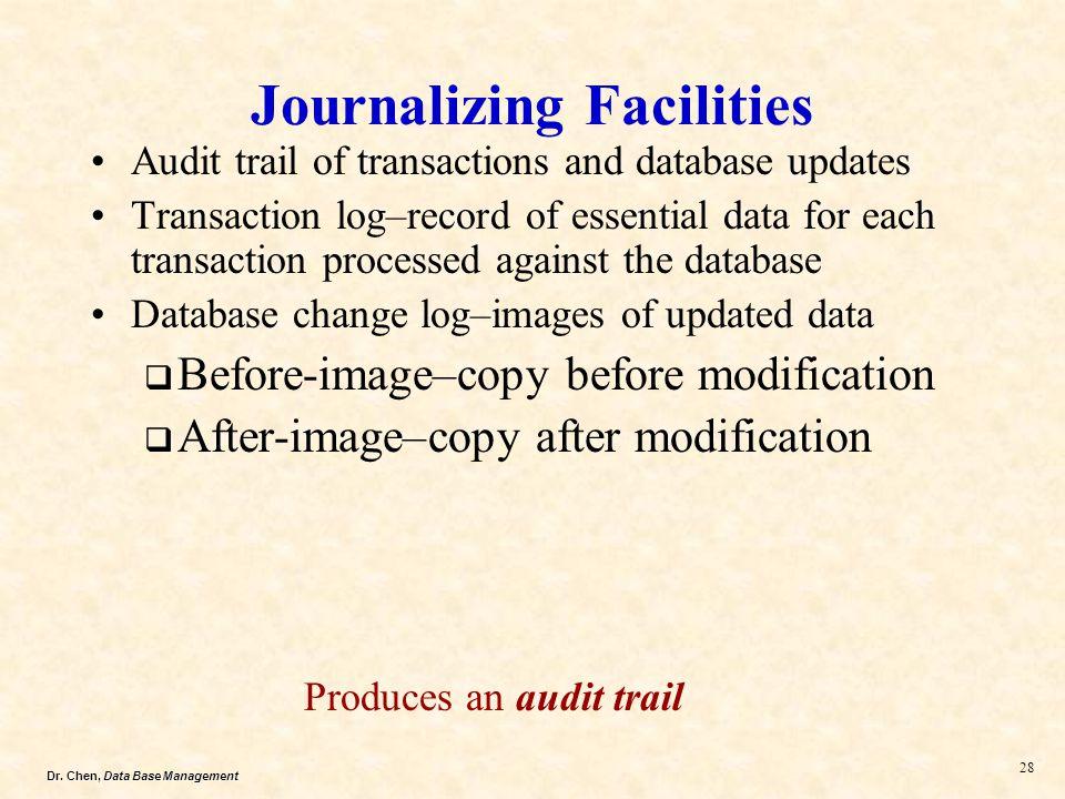 Journalizing Facilities