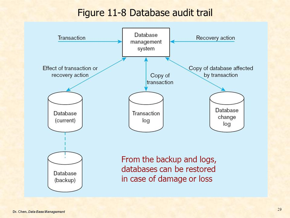 Figure 11-8 Database audit trail