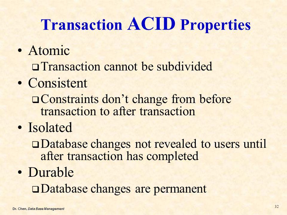 Transaction ACID Properties