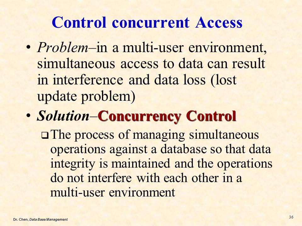 Control concurrent Access