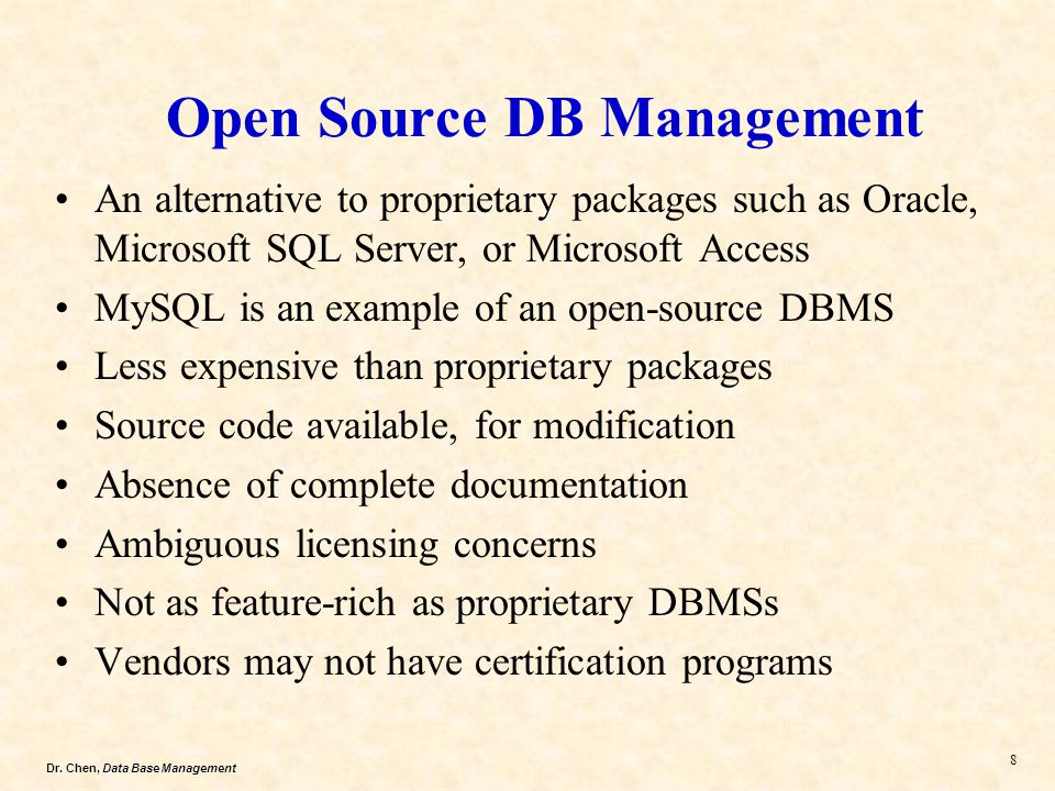 Open Source DB Management