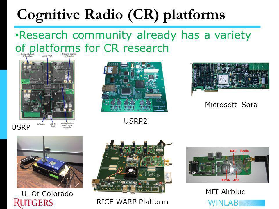 Cognitive Radio (CR) platforms