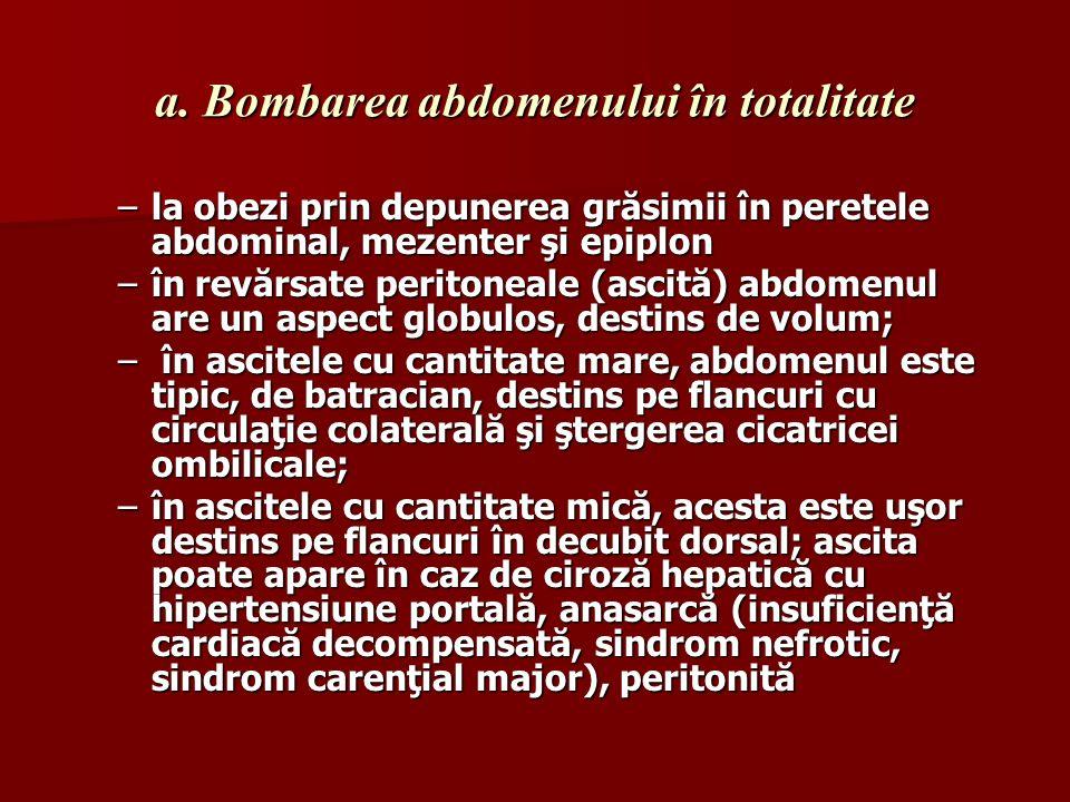 a. Bombarea abdomenului în totalitate