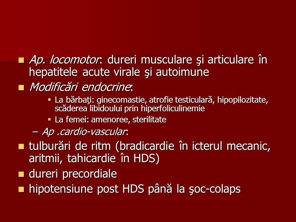 Modificări endocrine: