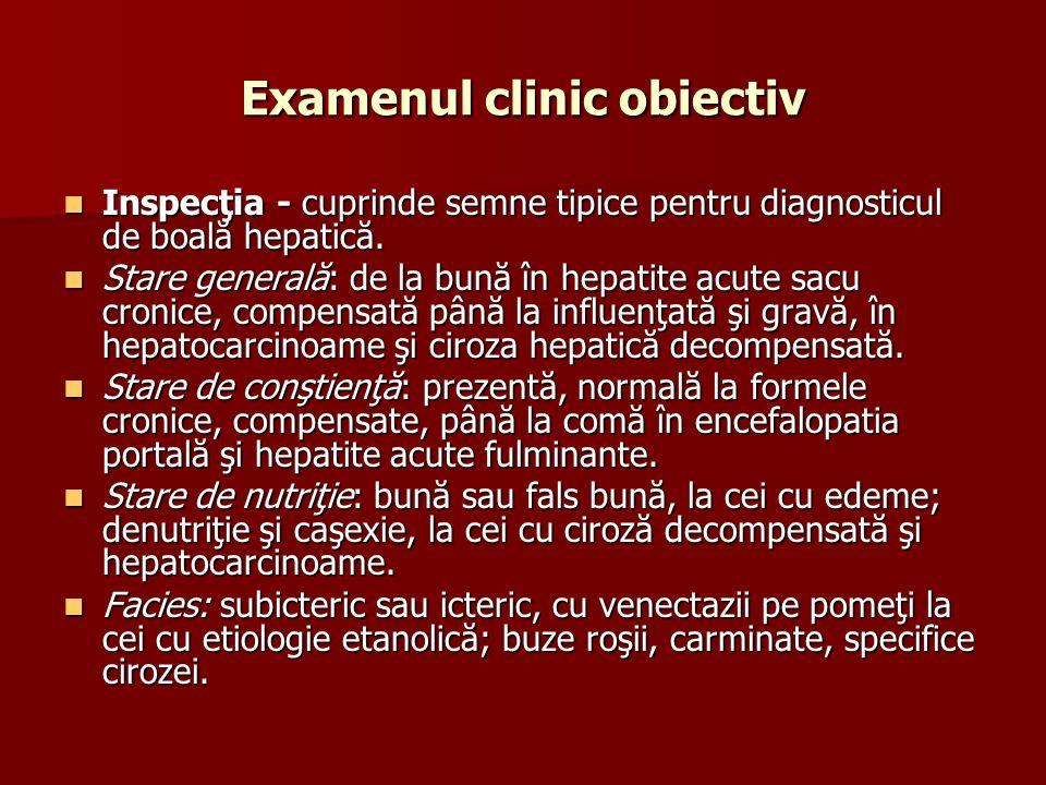 Examenul clinic obiectiv