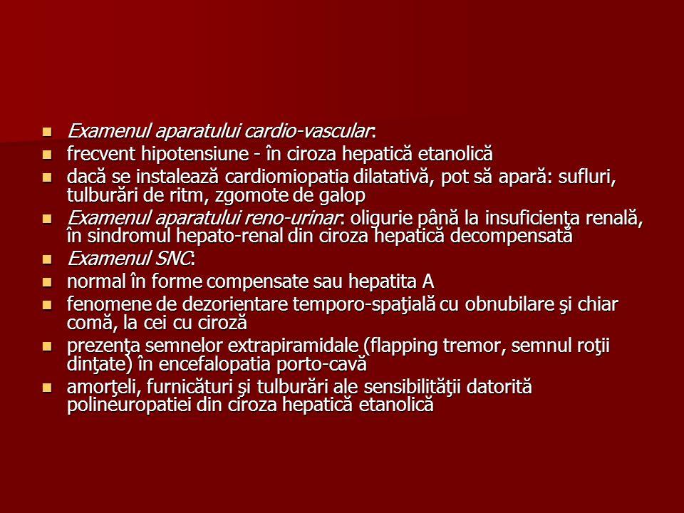 Examenul aparatului cardio-vascular: