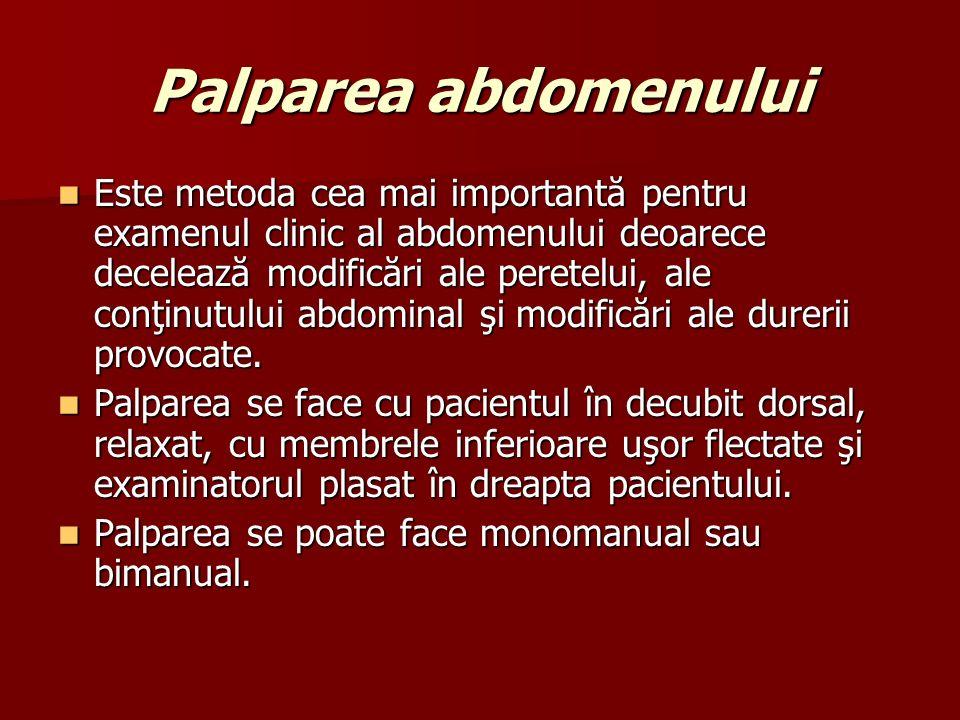 Palparea abdomenului