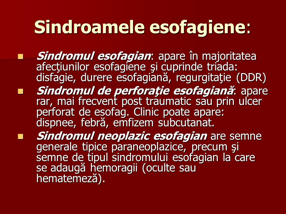 Sindroamele esofagiene: