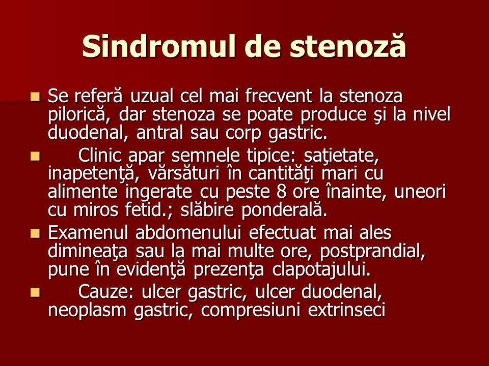Sindromul de stenoză