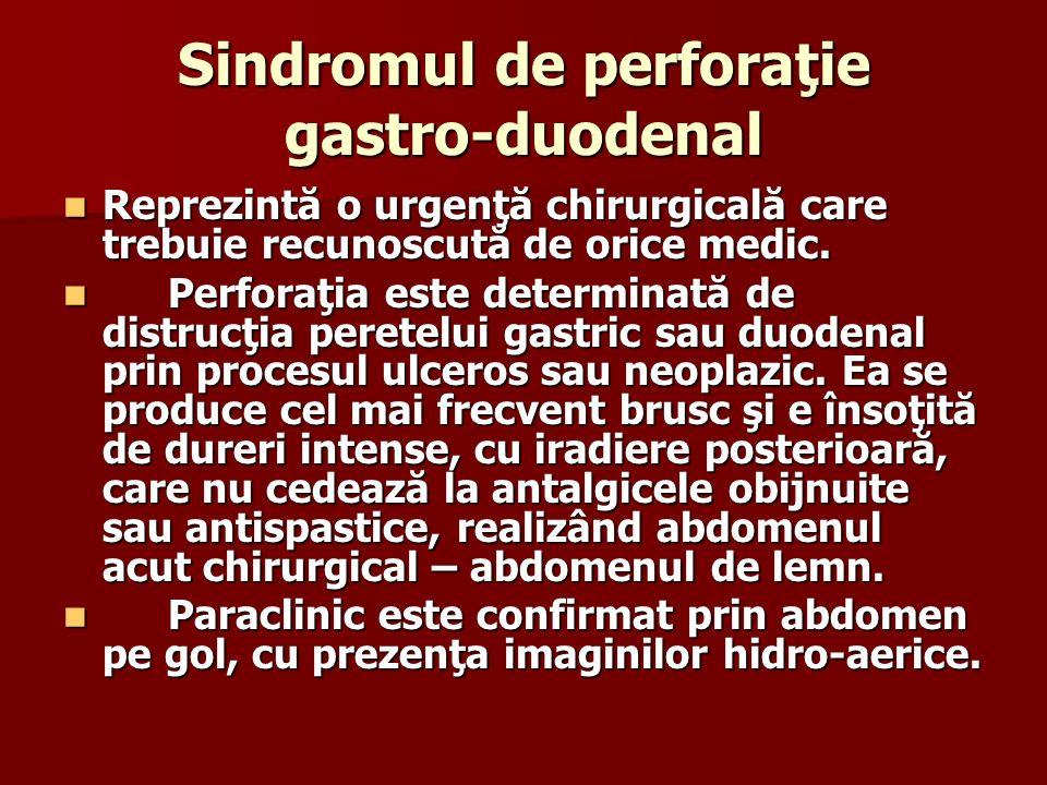 Sindromul de perforaţie gastro-duodenal